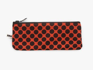 KOM pencil case - black dots