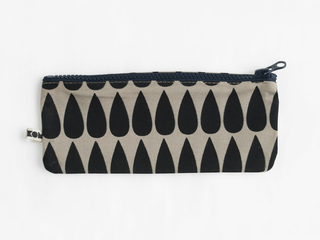 KOM pencil case - black drop