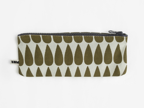 KOM pencil case - olive drop
