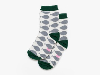3/4 K basic socks - cement fish