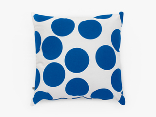 cushion cover - giant cobalt dots