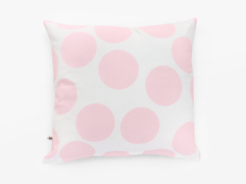 cushion cover - giant pink dots