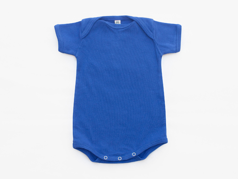 short sleeved bodysuit - solid blue