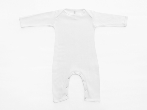 baby long sleeved bodysuit - natural