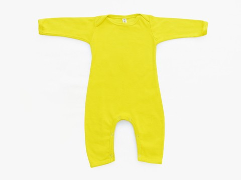 baby long sleeved bodysuit - solid lime