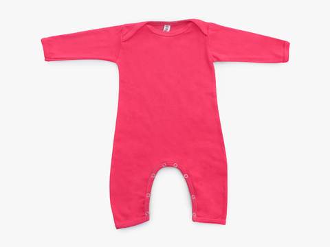 baby long sleeved bodysuit - solid magenta