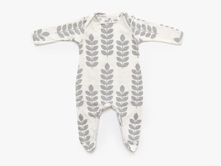 baby long sleeved bodysuit - newborn - cement stem