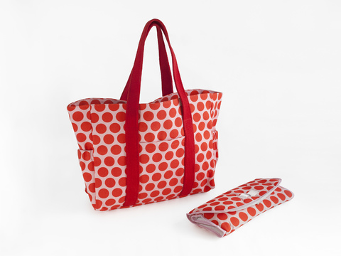 diaper bag - pumpkin dots