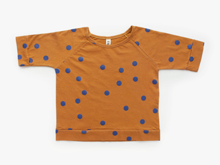 3/4 sleeved t-shirt - mustard dots