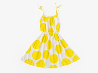 strappy sundress - yellow dots
