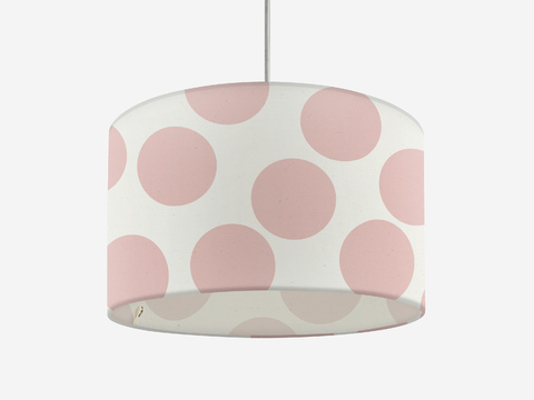 lampshade - pale pink giant dots
