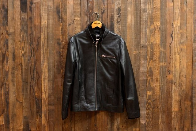 Leather Jacket Neck Black - comprar online
