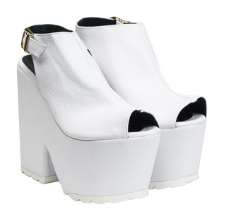 Gaga White Shoes