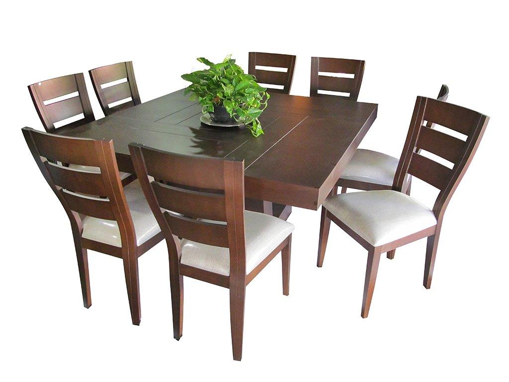 Comedor brasil cuadrado 8 sillas muebles laffayette for Comedor 8 sillas madera
