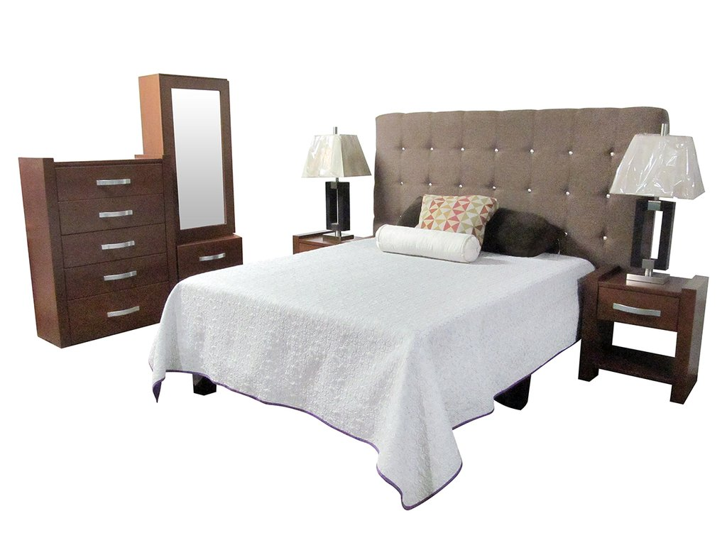 Rec mara carmin king size muebles laffayette for Medidas de recamaras king size