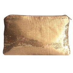Clutch - Lentejuelas Hollywood Dorado