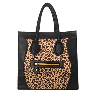 Cartera Rafaeli - Negro y Animal Print