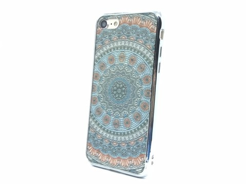 Capa Mandala Iphone 7 bordas prata