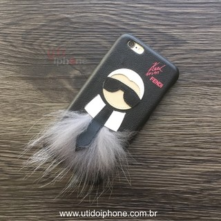 Capa Rígida Estilo FENDI Karl Lover para iPhone 6