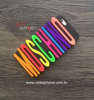 Case silicone Moschino Letras coloridas iphone 6