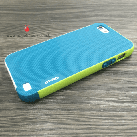 CAPA PARA IPHONE 5/5S EMBORRACHADA WALNUTT COLOR