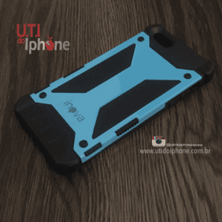 Capa Inova Anti Choque Iphone 5/5s azul e preto