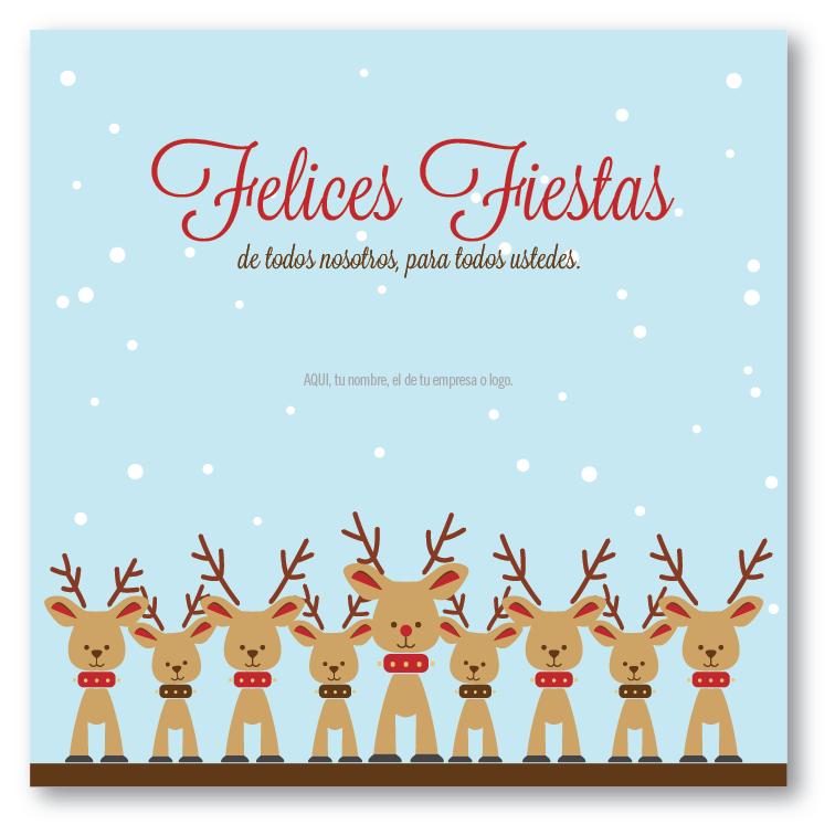 Ni os renos tarjetas para navidad y fin de a o - Postales navidad para ninos ...