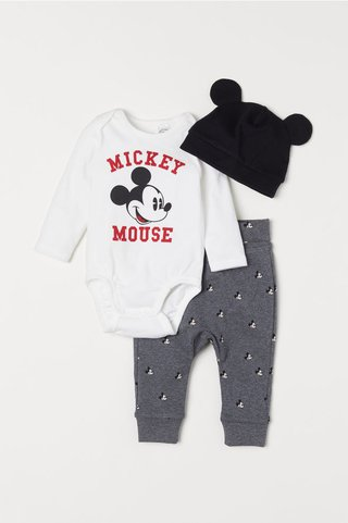Conjunto 3 Peças Mickey Mouse for H&M London