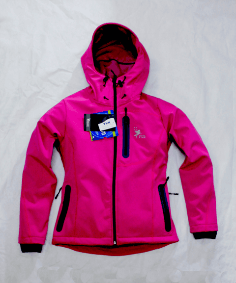 Campera con capucha impermeable rompevientos respirable