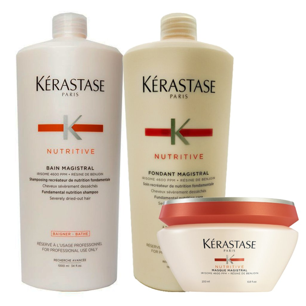 Bain Magistral Nutritive + Fondant Magistral Nutritive + Masque Magistral 1000/1000/200 Ml - Kerastase