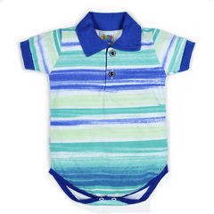 Body Polo Baby Listra Azul