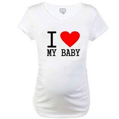 Camiseta Gestante I LOVE MY Baby Long