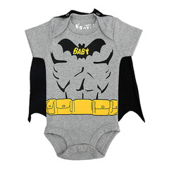 Body Divertido Batman com Capa Removível