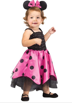 Fantasia Vestido Minnie Mouse Rosa Original