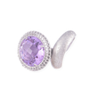 Comet Ring - diamond with violet crystal