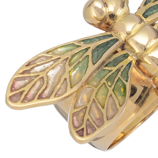 Petit Gold Orchid Bracelet - 18 kt gold with enamel technique plique-a-jour and bright on internet