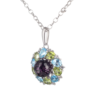 Triad Pendant - Sterling silver with violet crystal - buy online