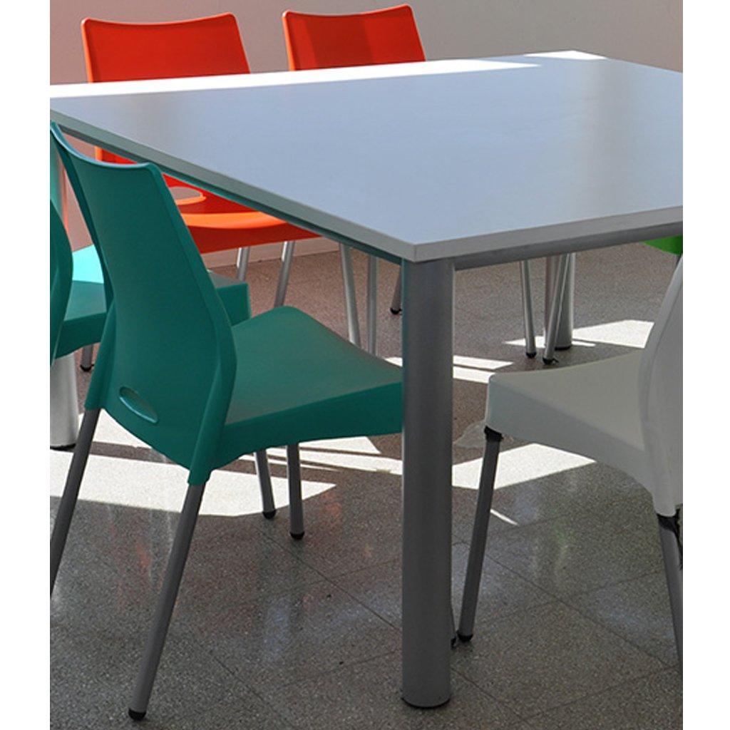 Mesa gourmet a medida con patas met licas y tapa de madera - Patas metalicas para mesas ...