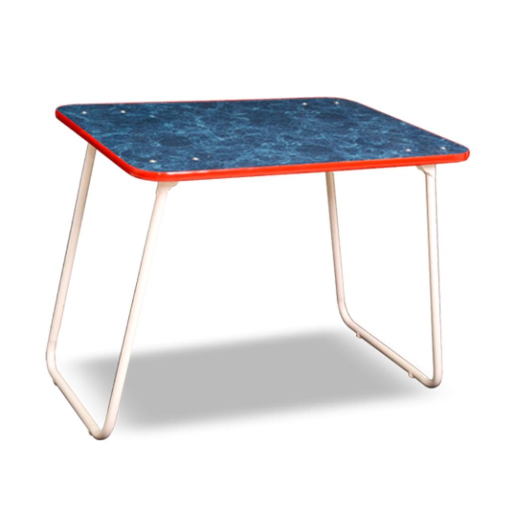 Mesa de camping plegable con tapa de madera laminada en for Mesa plegable plastico