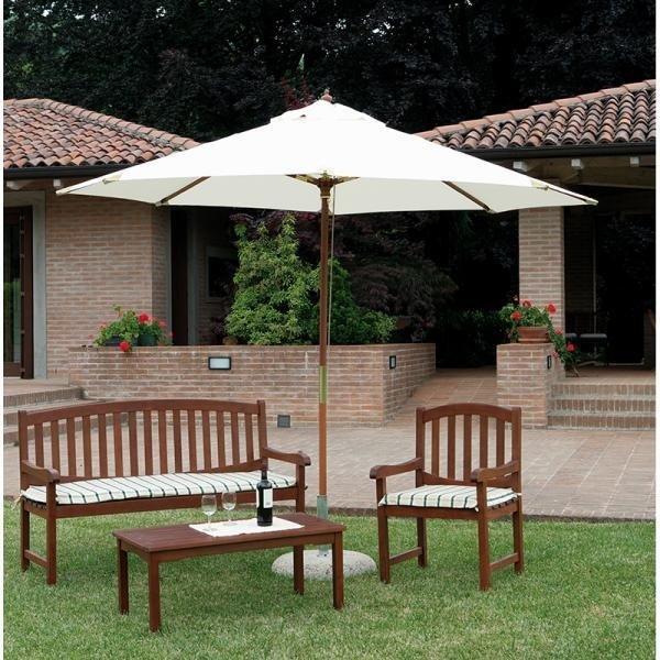 parasol sombrilla redonda wood para jardn playa hotel - Sombrillas Para Jardin