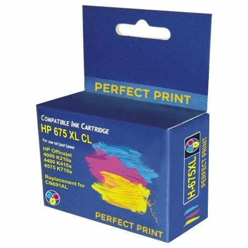 Cartucho Hp 675 Xl Color Alternativo Officejet 4000 4400