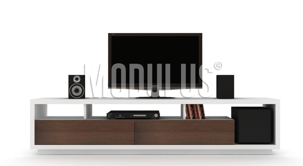 Mueble de tv rack for Mueble wengue y blanco