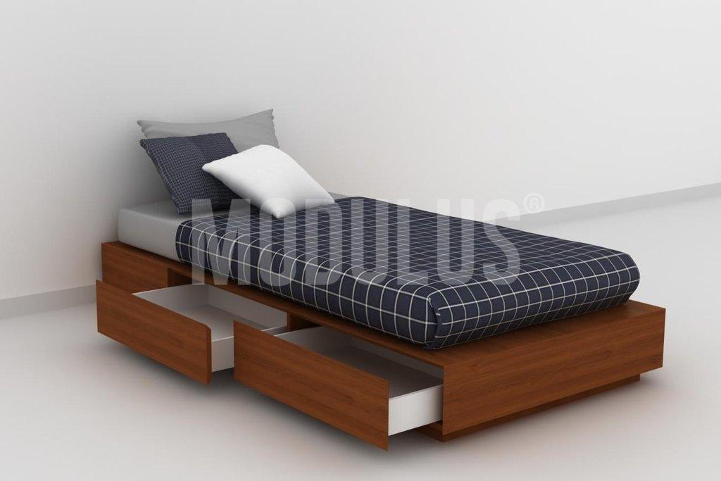Cama tarima con cajones for Camas con cajones y otra cama