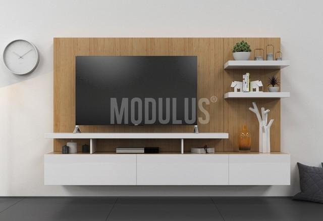 Sistema mural 29 combinado comprar en modulus for Muebles modernos para living