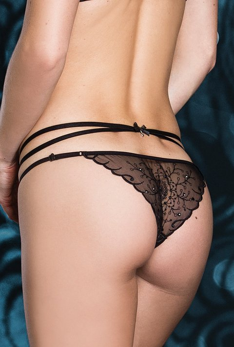 Calcinha Bordada Strappy So Sexy 4059 - De Chelles Lingerie