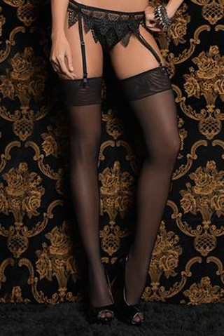 Meia 7/8 Requinte Black 7211 - Belles Lingerie