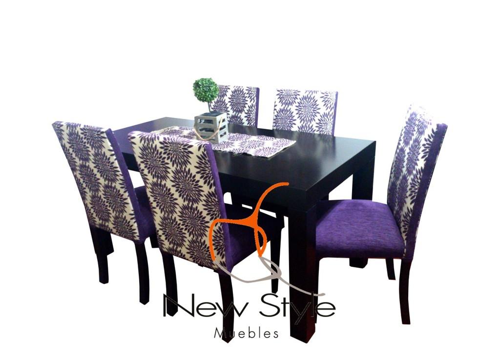 Comedor sillas chenille comprar en newstyle tigre for Juego de comedor oferta
