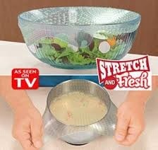 Stretch And Fresh - Filme Película Reutilizável p/Vedar Alimentos