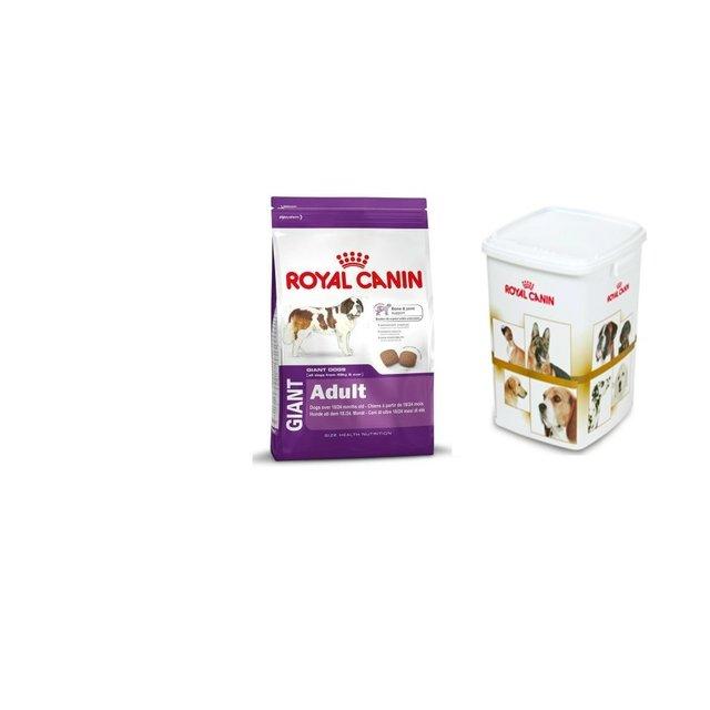 Royal Canin Giant Adultos x 15 kg con contenedor de alimento gratis