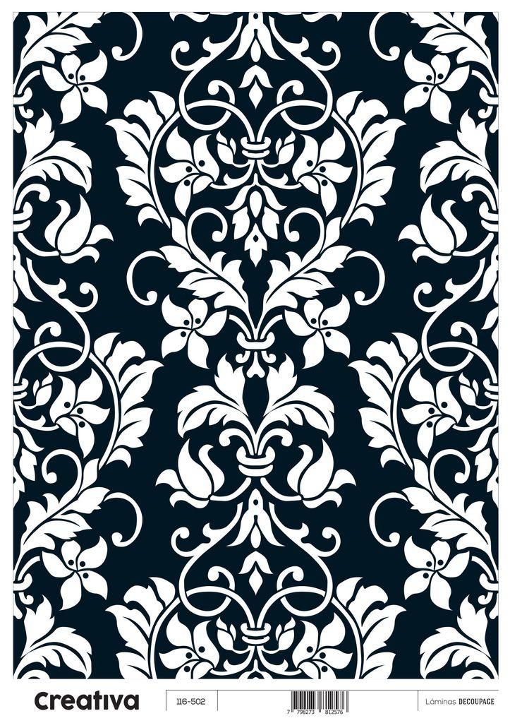 Laminas para decoupage creativa blanco y negro 116 502 30 for Laminas blanco y negro